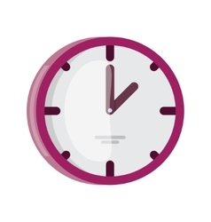 Wall Clock icon flat design vector image