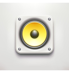 sound loud speaker icon vector image