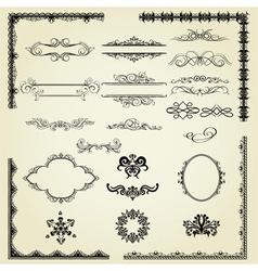 Set of vintage elements vector image