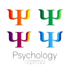 Modern logo set of psychology psi creative style vector