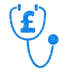 Pound health grainy texture icon vector