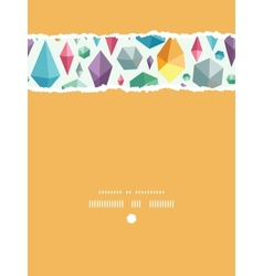 hanging geometric shapes vertical torn seamless vector image
