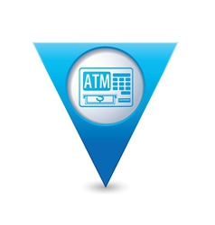Atm icon pointer blue vector