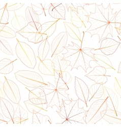 Seamless color leaves pattern plus eps10 vector