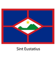 Flag of the country sint eustatius vector
