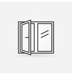 Window linear icon vector