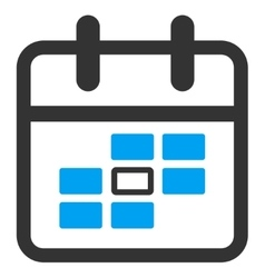 Plan date icon vector