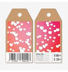 Tags design on both sides cardboard sale vector