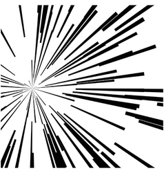 Abstract speed motion black lines star burst vector