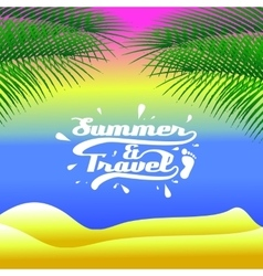 background the summer and travel vector image