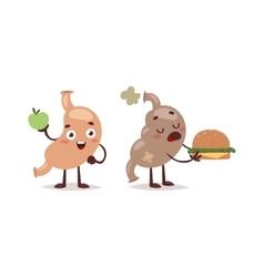 Healthy and unhealthy food concept vector