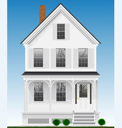 A typical and classic american house made of wood vector