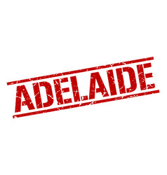 Adelaide red square stamp vector