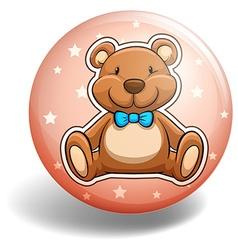 Bear badge vector image vector image