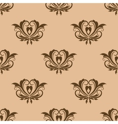 Beige and brown seamless pattern vector image