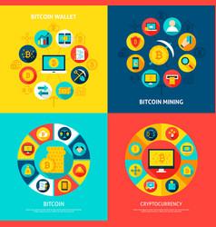 Bitcoin concepts set vector