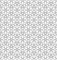 Black and white seamless linear geometric pattern vector