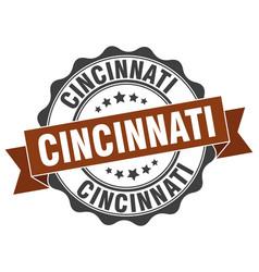 Cincinnati round ribbon seal vector