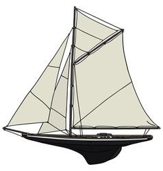 Classic yacht vector