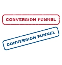 Conversion funnel rubber stamps vector