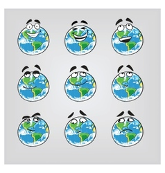 Earth emotions-part 1 vector image vector image