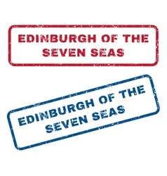 Edinburgh of the seven seas rubber stamps vector