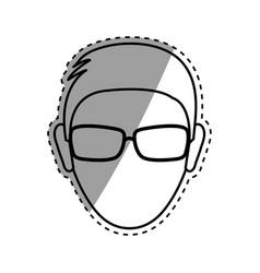 faceless man head vector image vector image