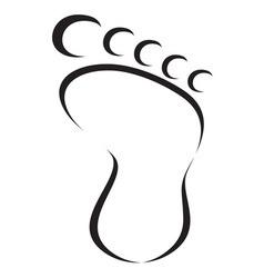 Foot icon1 vector
