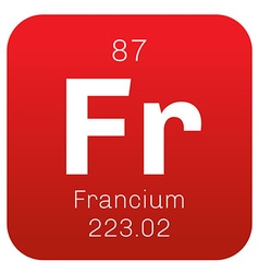 Francium chemical element vector image