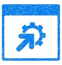 Gear integration calendar page grainy texture icon vector