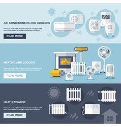 Heating And Cooling Banner vector image vector image