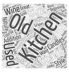 Home decorating old world style word cloud concept vector