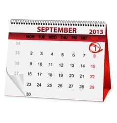 icon calendar for September 1 vector image vector image