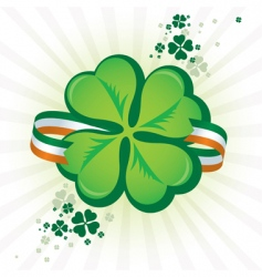 Irish shamrock icon vector image vector image
