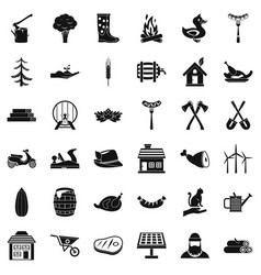 log icons set simple style vector image vector image