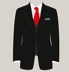 Man suit vector image vector image