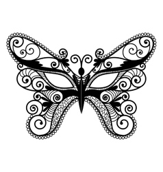 Mardi Gras mask of lace collection set vector image