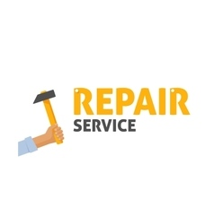Repair service logo maintenance center vector image vector image