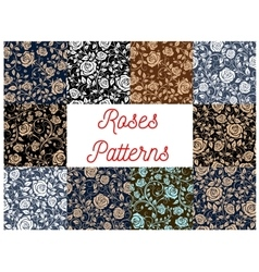 Roses seamless pattern backgrounds vector