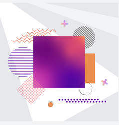square and other shapes on vector image vector image