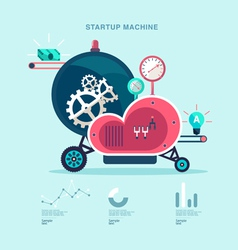 Startup machine vector image vector image