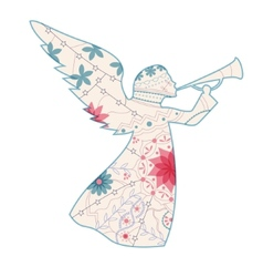 Vintage angel vector image