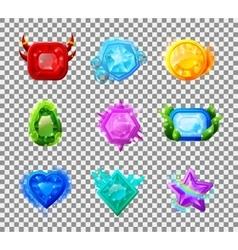 Web Game Magic Gems vector image