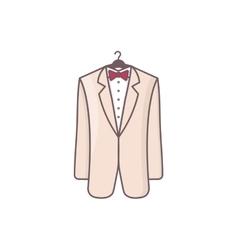 Wedding men suit vector image vector image