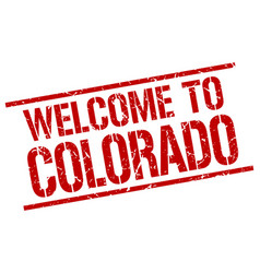 Welcome to colorado stamp vector