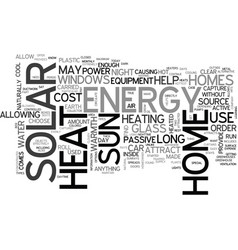 Where to find solar energy text word cloud concept vector