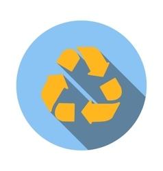 Yellow circular arrows icon flat style vector image vector image