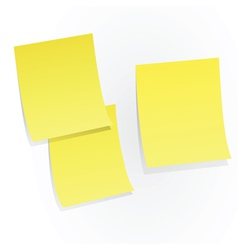 yellow sticky papers vector image vector image