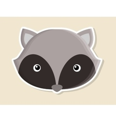 raccoon animal cute little design vector image