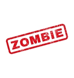 Zombie rubber stamp vector